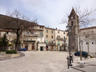 The Piazza in Coreno Ausonio, Italy